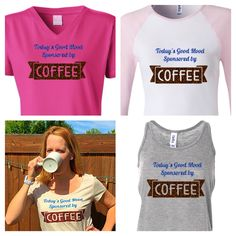 Yeah, I knew you weren't just smiley all on your own! Coffee makes you giddy! Get yours at http://www.hipkraft.com/d.php?did=sponsored-by-coffee #coffee #shirt #latte #caffeine #espresso #shots #happycoffee #high #coffeehigh #ilovecoffee #iheartcoffee #mocha #doubleshot #beans glitter #hipkraft #rhinestone