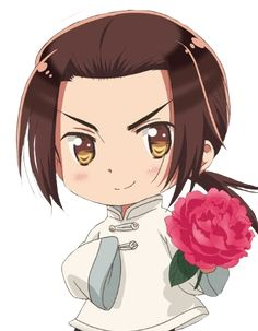 Yao offering you a peony - Art by aphwy.co.vu