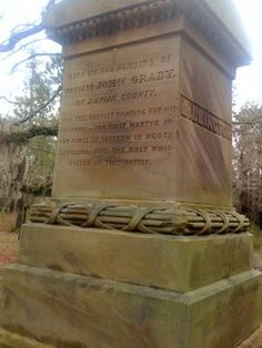 John Grady, Jr killed at Moore's Creek Bridge battle. Brother to Frederick Grady
