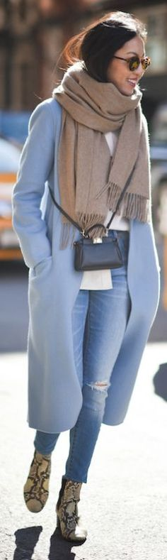 statement coats powder blue chic