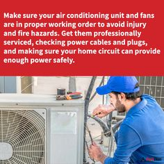 Routine service to maintain your A/C will keep it free from damage and fire hazards. House Cleaning Tips, Cleaning Hacks, Power Cable, Clean House, Routine, Fire, Household Cleaning Tips