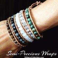 "Willamy's new ""Jade Allure"" semi-precious leather wrap bracelet is all the rage in Hollywood! And on sale now at http://www.willamycollection.com/#!semi-precious-wraps/c1t6"