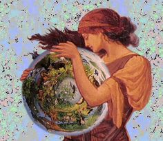 Contemporary image of Gaia, which means land or earth and fittingly. Gaia was the goddess of Earth in ancient classical mythology. She was the spiritual embodiment of the earth. Gaia was often referred to as the Mother of All or the Great Mother goddess, Gaia Goddess, Earth Goddess, Mother Goddess, Grecian Goddess, Classical Mythology, Greek Mythology, Mother Earth, Mother Nature, Ancient Greek Religion