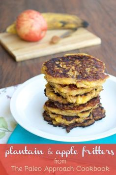 AIP Plantain and Apple Fritters from The Paleo Approach Cookbook make the perfect egg-free breakfast! Free Breakfast, Paleo Breakfast, Breakfast Recipes, Breakfast Time, Breakfast Ideas, Brunch Ideas, Dinner Recipes, Whole 30 Recipes, Real Food Recipes