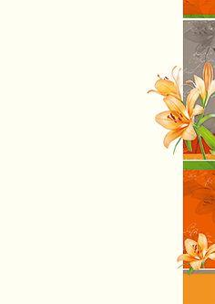 #PC #Briefpapier orangene #Lilien