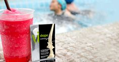 It's a Pool Party! Make a Splash with a Watermelon-Cucumber Vi-Shape Shake