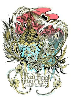 GigPosters.com - Red Fang - Black Tusk - Rescue Rangers - Abrahma