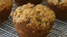 Bananas and applesauce make these muffins very moist and tender.