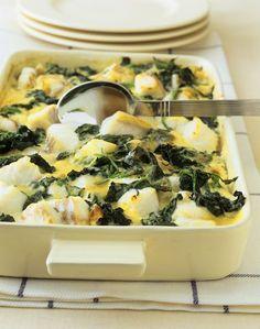 Low Carb Fischauflauf mit Spinat - super easy zubereitet: http://eatsmarter.de/rezepte/fischauflauf-mit-spinat