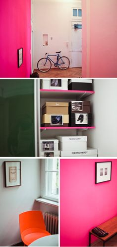 kinda wanting to paint something neon in the new place... just a small wall... maybe by my desk for energy!