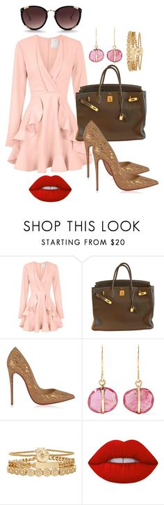 """get the look 26"" by ichaermayani on Polyvore featuring C/MEO COLLECTIVE, Hermès, Christian Louboutin, Melissa Joy Manning, Treasure & Bond, Lime Crime, Rebecca Taylor and polyvorefashion"