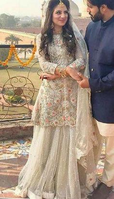 30 Ideas Bridal Couture Pakistani Shalwar Kameez For 2019 Pakistani Wedding Outfits, Pakistani Wedding Dresses, Bridal Outfits, Indian Dresses, Shadi Dresses, Black Wedding Dresses, Indian Outfits, Pakistan Wedding, Indian Bridal