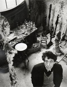 Alberto Giacometti, Photo Robert Doisneau, 1957