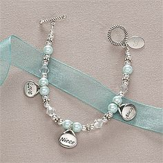 Love, Niece, Always Youth Initial Bracelet  KEEPSAKE FOR THE FLOWER GIRLS