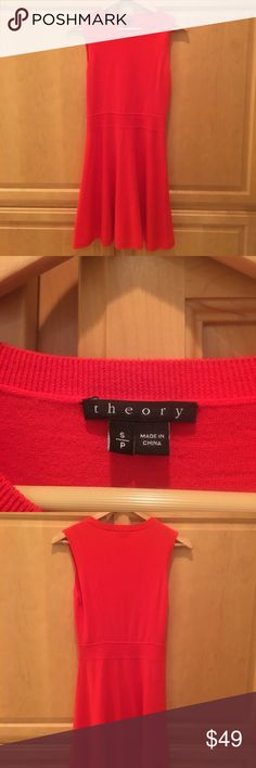 Theory A line dress Red Theory A line dress cotton wool blend Theory Dresses Mini