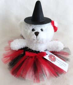 99f71190e75 An adorable little Halloween gift and decoration! Meet Princess Ruby Red  Witch Tutu Teddy Bear