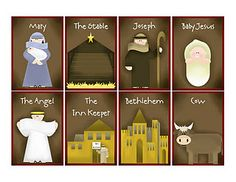 Nativity memory Game.  Great idea for family night! #nativity #printable #game #Christmas