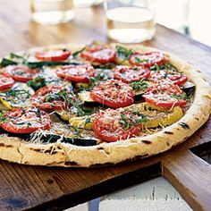 Summer Squash and Zucchini Recipes - Healthy Grilled Summer Squash Pizza Recipe - Cooking Light Squash Zucchini Recipes, Summer Squash And Zucchini Recipe, Cooking 101, Cooking Light, Cooking Recipes, Grilling Recipes, Heart Healthy Vegetarian Recipes, Paleo, Healthy Meals