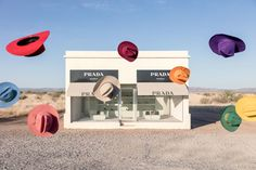 Gray Malin has shot new photographs for his popular series of Prada Marfa. Shot in Marfa Texas of the acclaimed art installation, Prada Marfa. Framing Photography, Fine Art Photography, Photography Series, Prada Marfa, Design Palette, Thing 1, Cowboy Hats, Fine Art Prints, Wall Prints