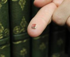 From The Atlantic, a book the size of a ladybug.