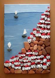 Resultado de imagen para imagenes huellas hechas con piedras
