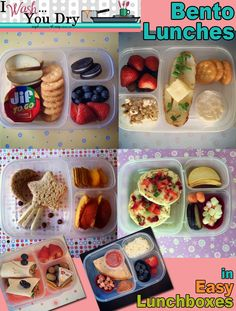 Lots of lunch inspiration from http://iwashyoudry.com/2012/10/17/making-a-bento-lunch-with-easy-lunch-boxes/