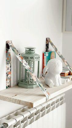 Easy Shelves, Diy Wall Shelves, Diy Wall Decor, Diy Home Decor, Indie Room, Diy Home Crafts, New Room, Diy Projects, Interior