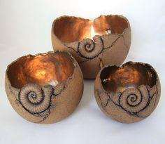 "Keramik-Windlicht-Kugeln ""Ammonit"""