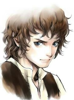 This is amazing! Frodo anime style