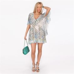 Free People Women's Contemporary Printed Chiffon Sparks Fly Cape Dress #VonMaur #FreePeople #Ivory #Printed #Floral
