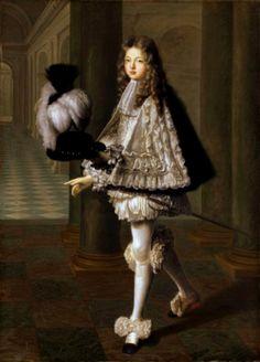 Louis-Alexandre de Bourbon, comte de Toulouse (1678-1737), legitimized son of Louis XIV and Madame Montespan, as novice of the the Order de Saint-Esprit, late 17th century