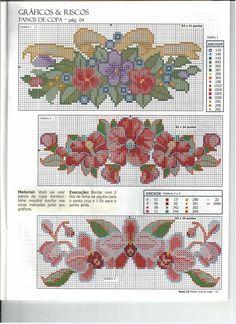 Bonitos bordados florales para adorno en toallas etc.