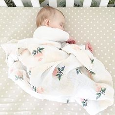 Nothing quite like watching your baby in a peaceful sleep @arlynnjayne Watercolor Rose swaddles restocked! #LinkInProfile