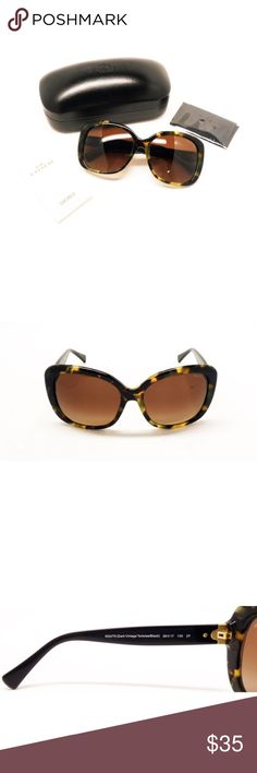 Coach Tortoise Shell Sunglasses 8158 5324T5 Purple/black gradient lenses. Too big for my face but gorgeous. See detail photos for scratches. Coach Accessories Sunglasses