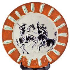 Picasso Ceramic Signed, Corrida, 1959