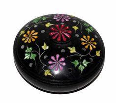 A Loja do Gato Preto   Caixa Pequena Preta Flores @ Caja Pequeña Negra Flores #alojadogatopreto