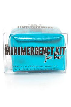 $15 Turquoise Minimergency Survival Kit - Unique Vintage - Cocktail, Pinup, Holiday & Prom Dresses.