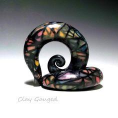 6 Sizes 8 Colours Ear Stretcher Neon Serpentine Taper