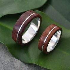 mens wooden wedding bands - Google Search