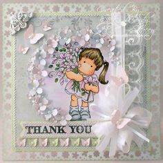 A Sprinkling of Glitter: Say It With Flowers - Simon Says Stamp DT Card