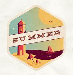 Summer /// Martin Type Illustration, Creative Illustration, Work Inspiration, Logo Design Inspiration, Design Ideas, Savon Soap, Packaging, Great Logos, Retro Logos