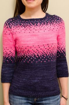 Ravelry: Pixelated Pullover pattern by Jennifer Beaumont Knit In The Round, Circular Knitting Needles, Sweater Knitting Patterns, Stockinette, Pulls, Knit Crochet, Knitwear, Clothes, Women
