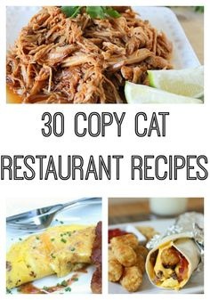 30 Copy Cat Restaurant Recipes #recipes - Trippin With Tara 30 Copy Cat Restaurant Recipes Vanilla Bean Cheesecake Copycat Panera Broccoli Cheese Soup Red Velvet Cheesecake Recipe COPYCAT CAFE RIO SWEET PULLED PORK {CROCK POT} Copycat Recipe Bacon Temptation Omelette PF Chang's Mongolian Beef Copy Cat Chick-Fil-A Nuggets Copy Cat Arbys Jamocha Shake Red Robin Seasoning Creamy Jalapeno Ranch Dip Recipe Olive Garden's Alfredo Sauce Copycat Sonic Ultimate Meat and Cheese Burrito recipe Copy-Cat…
