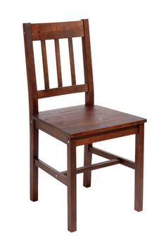 £20 - Dining chair TYLSTRUP pine coffee | JYSK