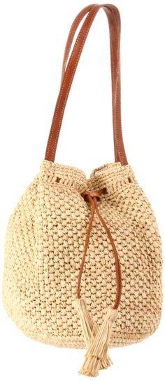 summer straw shoulder bag