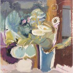 Ivon Hitchens (British artist, 1893-1979) Flowers Before a Window