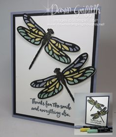 Stained Glass Dragonfly Wisteria Wonder Dawn Griffith Stampin up