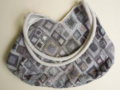 Medium Linen 'Diagonal' Purse