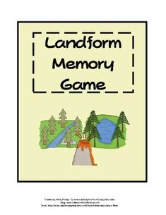landform memory game-have the students match the picture of the landform to the name of the landform written on the card-easy intro lesson activity or closure activity for a center
