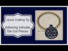 Quick Crafting Tip - Adhering Intricate Die Cut Pieces  Stampin' Up!, card, paper, craft, scrapbook, rubber stamp, hobby, how to, DIY, handmade, Live with Lisa, Lisa's Stamp Studio, Lisa Curcio, www.lisasstampstudio.com